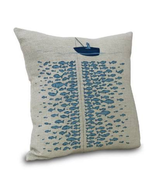 "Nautical Fisherman Throw Pillow Cover Coastal  Pillow Case 18"" By 18"" - £13.10 GBP"