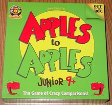 APPLES TO APPLES JUNIOR 9+ CARD GAME 2006 OUT OF THE BOX GAMES excellent  - $12.00