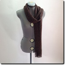 Brown and Gold Soft Scarf 60 x 10 - $11.65