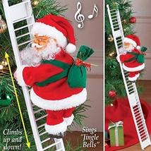 Climbing Santa Claus on Ladder,Electric Santa Climbing Ladder to Tree, C... - $28.57