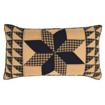 2-pc Dakota Star Luxury King Sham Set - Hand-quilted Black and Tan - VHC Brands