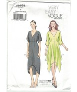 Very Easy Vogue 8894 V-Neck Handkerchief Hem Dress Pattern Choose Size U... - $16.65+
