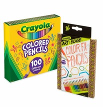 Crayola 100Count Colored Pencils with 16Count Color Fx Metallic & Neon E... - $24.30