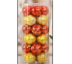 Christmas Tree Ball Ornaments Xmas Party Hanging Decors Set 24 Pieces Re... - €18,49 EUR