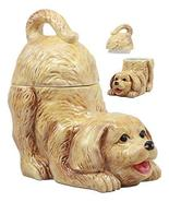 "Ebros Ceramic Playful Golden Retriever Puppy Cookie Jar 8"" Tall Decorati... - $34.64"