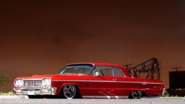1964 Chevrolet Impala lowrider red | 24 x 36 INCHPOSTER  | sports car - $18.99