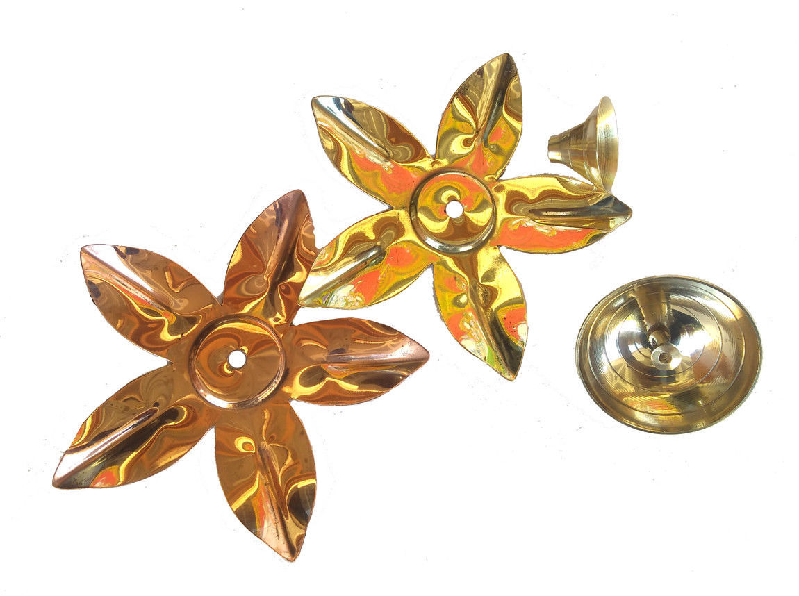 Set Of 3 Brass Copper Kamal Lotus Flower And 50 Similar Items