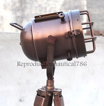 Handmade Nautical Copper Spot Light Studio Floor Lamp Marine Tripod Sear... - $43.60