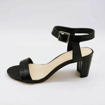 Nine West Womens Pixel Sandals Black Alligator Embossed Block Heels 7 M New - $27.17