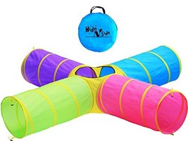 Hide N Side Kids Play Tunnels, Indoor Outdoor Crawl Through Tunnel for Kids Dog