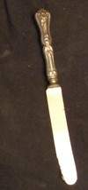 Hallmarked Antique William A. Rogers Dinner Knife - OLD KNIFE - FLORAL P... - $9.89