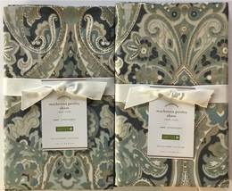 Pottery Barn Mackenna Paisley Shams ~Euro~Set of Two~ Blue - $59.95