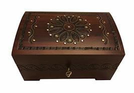 MilmaArtGift Large Polish Wooden Chest Handmade Floral Jewelry Keepsake Box with - $46.99