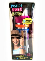 Graffiti Bangles Bracelets Craft Kit Create Your Own Peace Love Design - $8.90