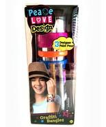 Graffiti Bangles Bracelets Craft Kit Create Your Own Peace Love Design - $8.90