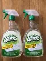 2 The Works Tub and Shower Cleaner 1 Quart 32 Oz Spray Cleanser HTF - $49.49