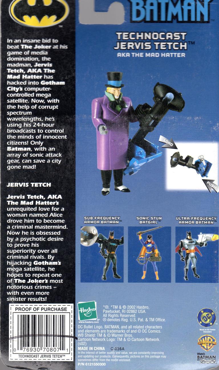 Spectrum Of The Bat - Batman Technocast Jervis Tetch AKA The Mad Hatter