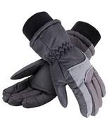 KEA KEA Kids Cold Weather Waterproof Thinsulate Lining Ski Gloves,Black/... - $20.02
