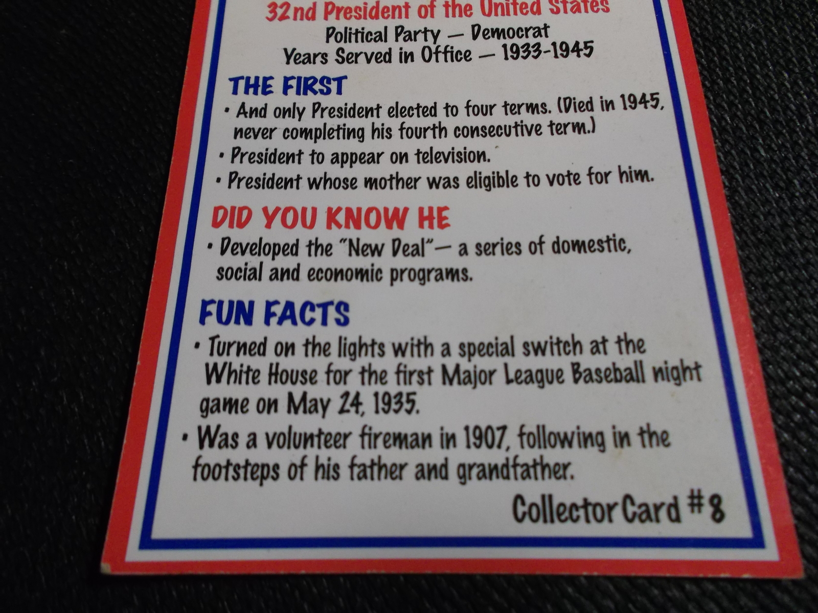 Drake 39 s cakes kids vote 39 96 pres fun facts card franklin for Fun facts about drake