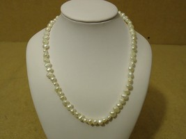 Designer Fashion Necklace 16in L Faux Pearl Female Adult Whites - $13.46