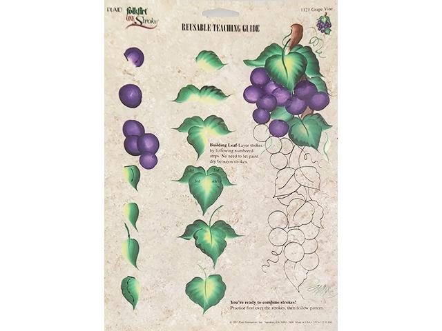 Plaid FolkArt One Stroke Donna Dewberry Reusable Teaching Guide Grape Vine #1121
