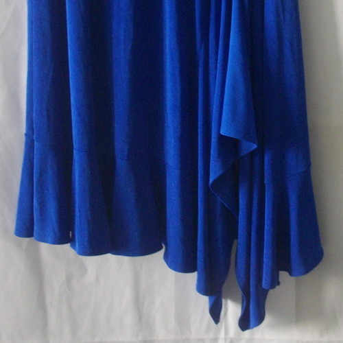 Picadilly Fashions bright blue asymmetrical skirt size small to medium