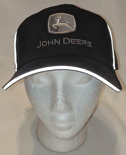 John Deere LP66990 Black Reflective Sandwich Bill Cap One Size Fits All