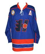 Custom Name # Halifax Highlanders Retro Hockey Jersey Blue Glatt #69 Any... - $54.99+