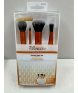Real Techniques Flawless Base Brush Set With Ultra Plush Custom Cut Synt... - $18.69