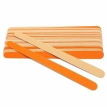 Nail Art Sanding Files Double-sided Wooden Buffer Nail Art Files Orange ... - $6.51