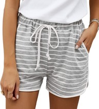 Vriety Trend Women Size S Gray Disconnect Striped Cotton Blend Pocketed ... - $26.99