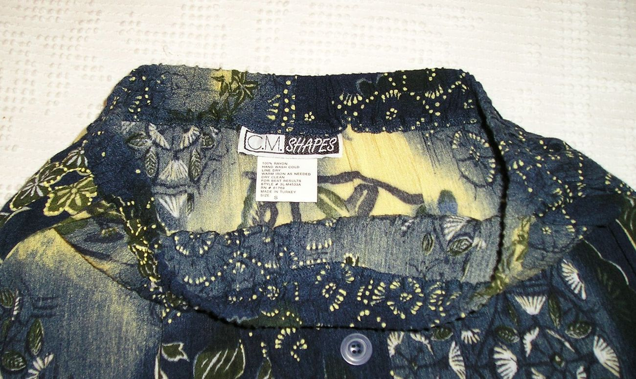 C.M.SHAPES Women's Long Floral Multicolored Button Skirt Sz S SMALL ( 6 - 8 )