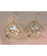 "Bahamas 15 cent (Hibiscus) ""copper - nickel"", cut coin jewelry earrings - $123.00"