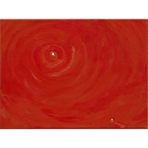 Golden Red Meditation an Abstract Painting to Contemplate - $300.00