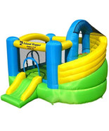 Island Hopper Jump-a-lot Curved Double Slide Bounce House NEW - $548.99