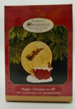 Happy Christmas to All! - 1997 Hallmark Keepsake Christmas ornament in o... - $14.01