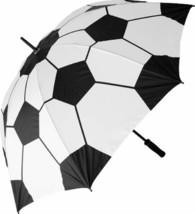 Soccer Football on Fire Custom Umbrella Compact Folding Travel Umbrella - $30.47