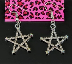 Betsey Johnson Crystal Star Drop Earrings NWT - $17.00