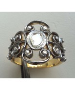 STERLING SILVER ANTIQUE FINE GEMSTONE 28+ CARATS REAL GENUINE DIAMOND RI... - $79.00