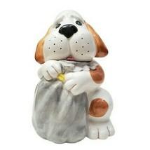 Hound Dog Cookie Jar w Sack - $67.72
