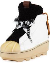 Coach Colorblock High-Top Platform Sneaker with Fur Size 9 - $169.00