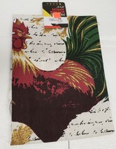 "Fabric Kitchen Apron with pocket, (23""x31"") ROOSTER & LEAVES, 100% Cotto... - $10.88"