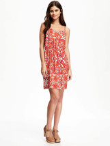 Old Navy Women Dress XS S M XXL Cami High Waist Orange Floral Spaghetti ... - $24.99