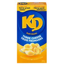 Kraft Dinner Three Cheese 200g/7oz Macaroni And Cheese Pasta Canada - $10.39