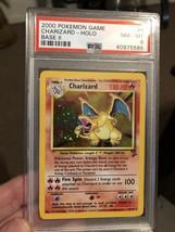 PSA 8 Charizard - Base 2 Set - Rare Holo 4/130 - Vintage Pokemon Card NM... - $94.95
