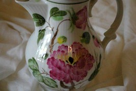 August Warnecke Hybiscus Hand Painted Coffee Pot German Bone China - $116.99