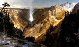 The Grand Canyon Of The Yellowstone Landscape Painting By Thomas Moran Repro - $10.96+