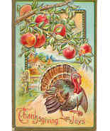 Thanksgiving Joys Vintage1909 Post Card - $6.00