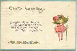 Easter Greetings  Post Card 1914 - $2.00