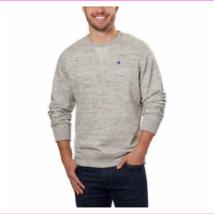 Champion Men's Textured French Terry Crew Sweatshirt Gray XXL